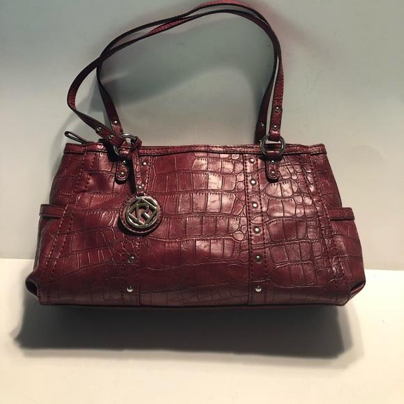 Relic Handbags - Relic faux crocodile red purse